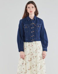 material Women sweaters Levi's WASTED TRUCKER Blue