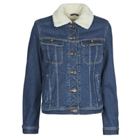material Women Denim jackets Lee SHERPA RIDER DARK SIDNEY Blue