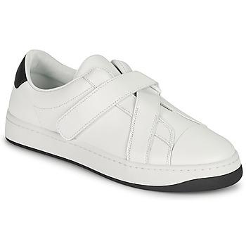 Shoes Women Low top trainers Kenzo ENZO KOURT SCRATCH SNEAKERS White