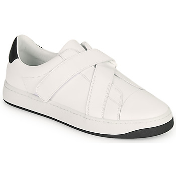 Shoes Men Low top trainers Kenzo ENZO KOURT SCRATCH SNEAKERS White