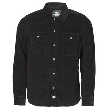 material Men long-sleeved shirts Dickies FORT POLK Black
