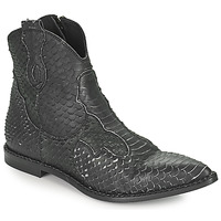 Shoes Women Mid boots Mimmu PYTHON INTAG Black