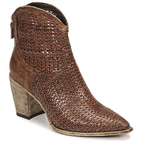Shoes Women Ankle boots Mimmu INTRECCIO FOSSIL Brown