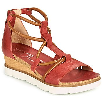 Shoes Women Sandals Mjus TAPASITA Red / Camel