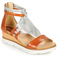 Shoes Women Sandals Mjus TAPASITA Brick / Silver