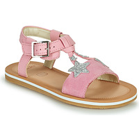 Shoes Girl Sandals Clarks FINCH SUMMER K Pink