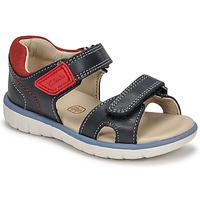 Shoes Boy Sandals Clarks ROAM SURF K Marine / Red