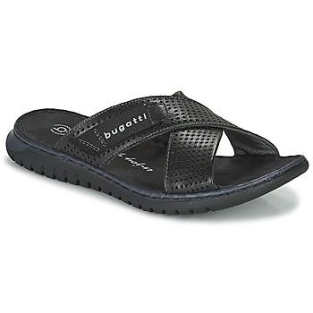 Shoes Men Sliders Bugatti IDAHO Black