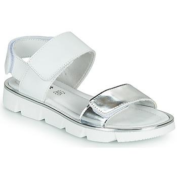 Shoes Girl Sandals Primigi ANNA White / Silver