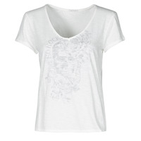 material Women short-sleeved t-shirts Ikks BS10025-11 White