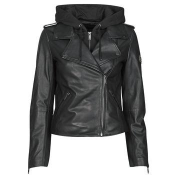 material Women Leather jackets / Imitation le Ikks BS48015-02 Black