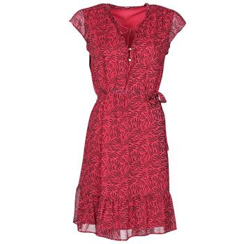material Women Short Dresses Ikks BS30355-38 Raspberry