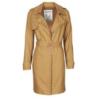 material Women Trench coats Ikks BS42025-63 Hazelnut