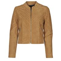 material Women Leather jackets / Imitation le Ikks BS48075-63 Hazelnut