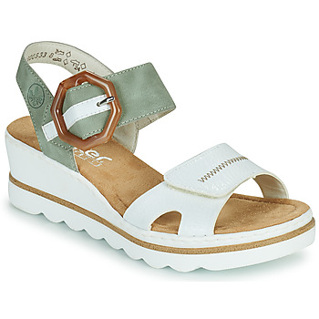 Shoes Women Sandals Rieker SOLLA Green / White