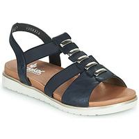 Shoes Women Sandals Rieker NINNA Blue