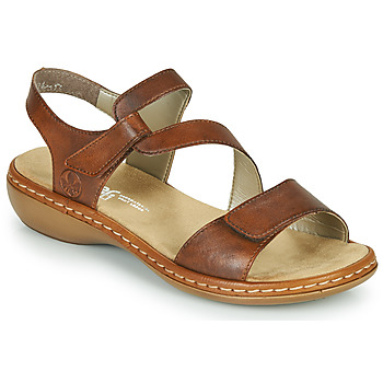 Shoes Women Sandals Rieker ZAZIE Brown