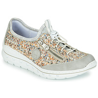 Shoes Women Low top trainers Rieker GRISSA Grey / Multicolour