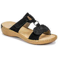 Shoes Women Mules Rieker DRILLO Black