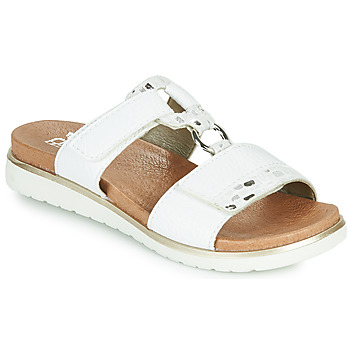 Shoes Women Mules Rieker ARGENTA Silver