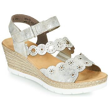 Shoes Women Sandals Rieker JULIA Silver