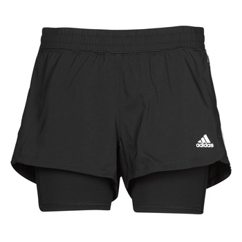 material Women Shorts / Bermudas adidas Performance PACER 3S 2 IN 1 Black