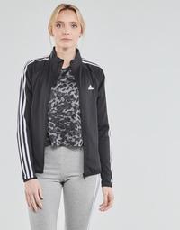 material Women Jackets adidas Performance W 3S TJ Black