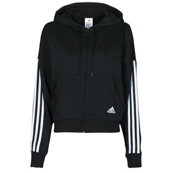 material Women Jackets adidas Performance W 3S FZ HD Black