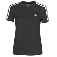 material Women short-sleeved t-shirts adidas Performance W 3S T Black