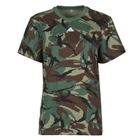 material Women short-sleeved t-shirts adidas Performance W CAMO T Green