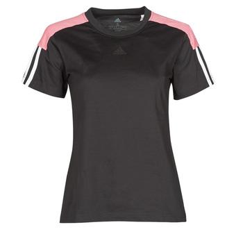 material Women short-sleeved t-shirts adidas Performance W CB LIN T Black