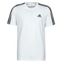 material Men short-sleeved t-shirts adidas Performance M 3S SJ T White