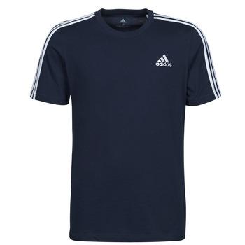 material Men short-sleeved t-shirts adidas Performance M 3S SJ T Blue