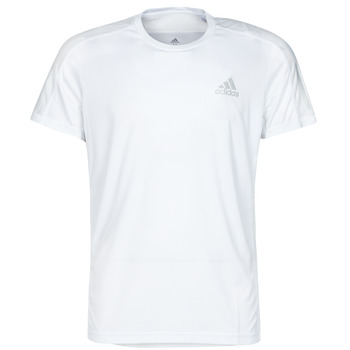 material Men short-sleeved t-shirts adidas Performance OWN THE RUN TEE White