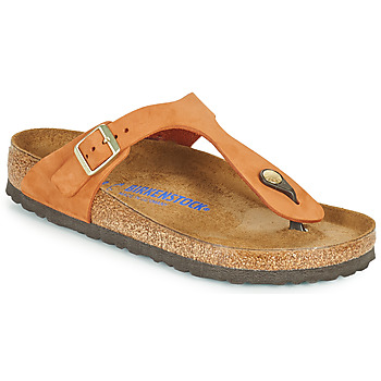 Shoes Women Flip flops Birkenstock GIZEH SFB Orange