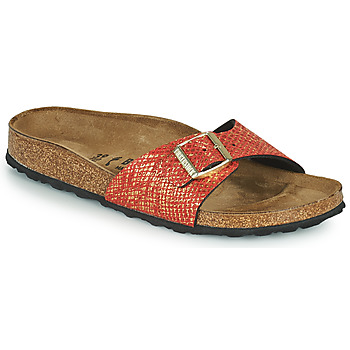 Shoes Women Mules Birkenstock MADRID Red / Gold