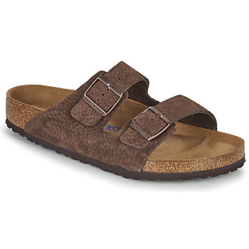 Shoes Men Mules Birkenstock ARIZONA SFB Brown