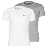 material Men short-sleeved t-shirts Levi's 2PK CREWNECK GRAPHIC White