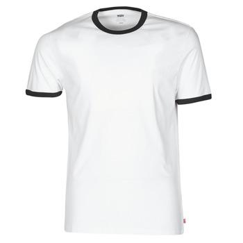 material Men short-sleeved t-shirts Levi's SS RINGER TEE White