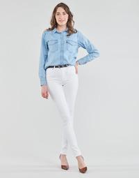 material Women Skinny jeans Levi's 721 HIGH RISE SKINNY White