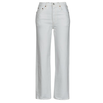 material Women straight jeans Levi's RIBCAGE STRAIGHT ANKLE White