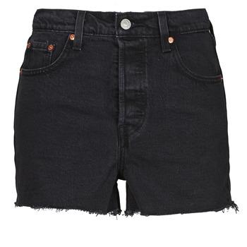 material Women Shorts / Bermudas Levi's RIBCAGE SHORT Black