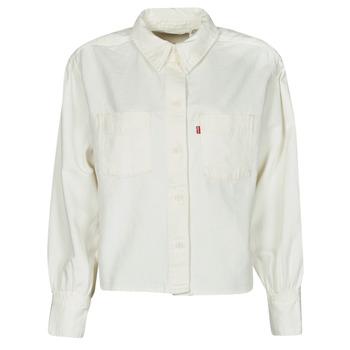 material Women Shirts Levi's ZOEY PLEAT UTILITY SHIRT White