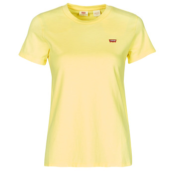 material Women short-sleeved t-shirts Levi's PERFECT TEE Lemon