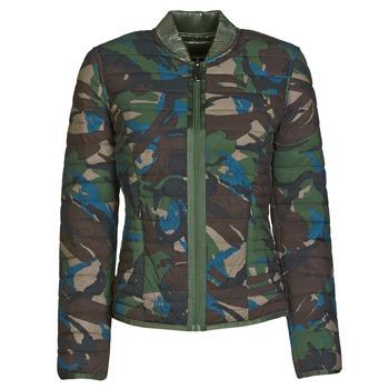 material Women Duffel coats Guess ICONIC CAMOU Kaki / Brown