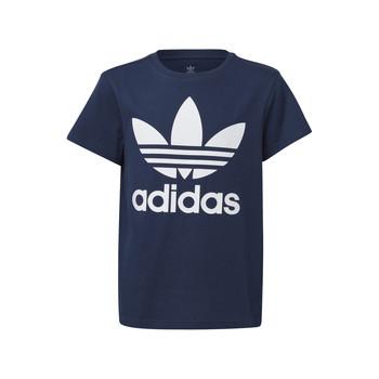 material Children short-sleeved t-shirts adidas Originals GD2679 Blue