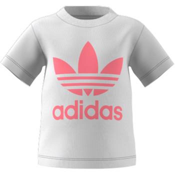 material Children short-sleeved t-shirts adidas Originals GN8175 White