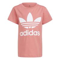 material Children short-sleeved t-shirts adidas Originals HOULILA White