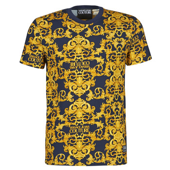 material Men short-sleeved t-shirts Versace Jeans Couture TIKI Blue / Gold