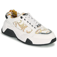 Shoes Men Low top trainers Versace Jeans Couture HATINA White / Gold